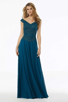 MGNY Beaded A-line Evening Gown - Product List Image