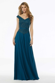 MGNY Beaded A-line Evening Gown - Product Mini Image