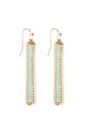 Riah Fashion Beaded Bar Drop-Earrings - Product Mini Image