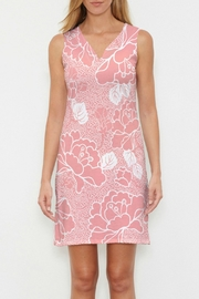 Whimsy Rose Beaded Blooms Coral Sleeveless Dress - Product Mini Image