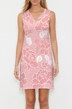 Shoptiques Product: Beaded Blooms Coral Sleeveless Dress