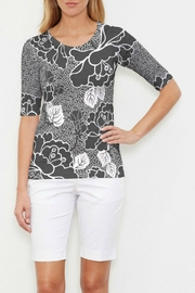 Whimsy Rose Beaded Blooms Elbow Slv T - Product Mini Image