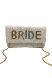 LA Chic Beaded Bride Clutch - Product Mini Image