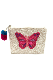 LA Chic Beaded Butterfly Coin Purse - Product Mini Image