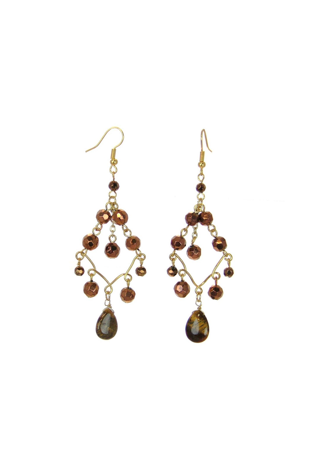 Diane S Accessories Beaded Chandelier Earrings Front Cropped Image
