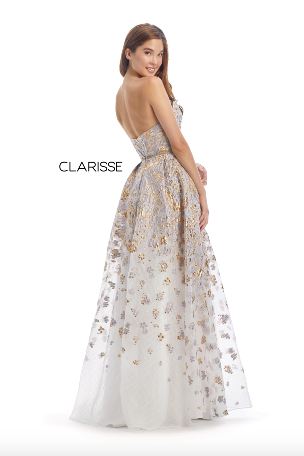 CLARISSE Beaded Classic Ballgown - Front Full Image