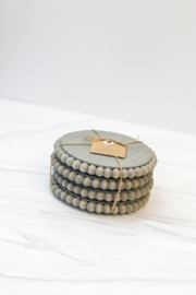 MudPie Beaded Coaster Sets - Front cropped