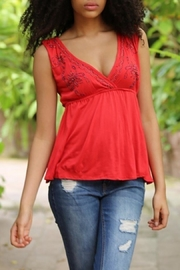 Angie Beaded Detail Top - Front cropped