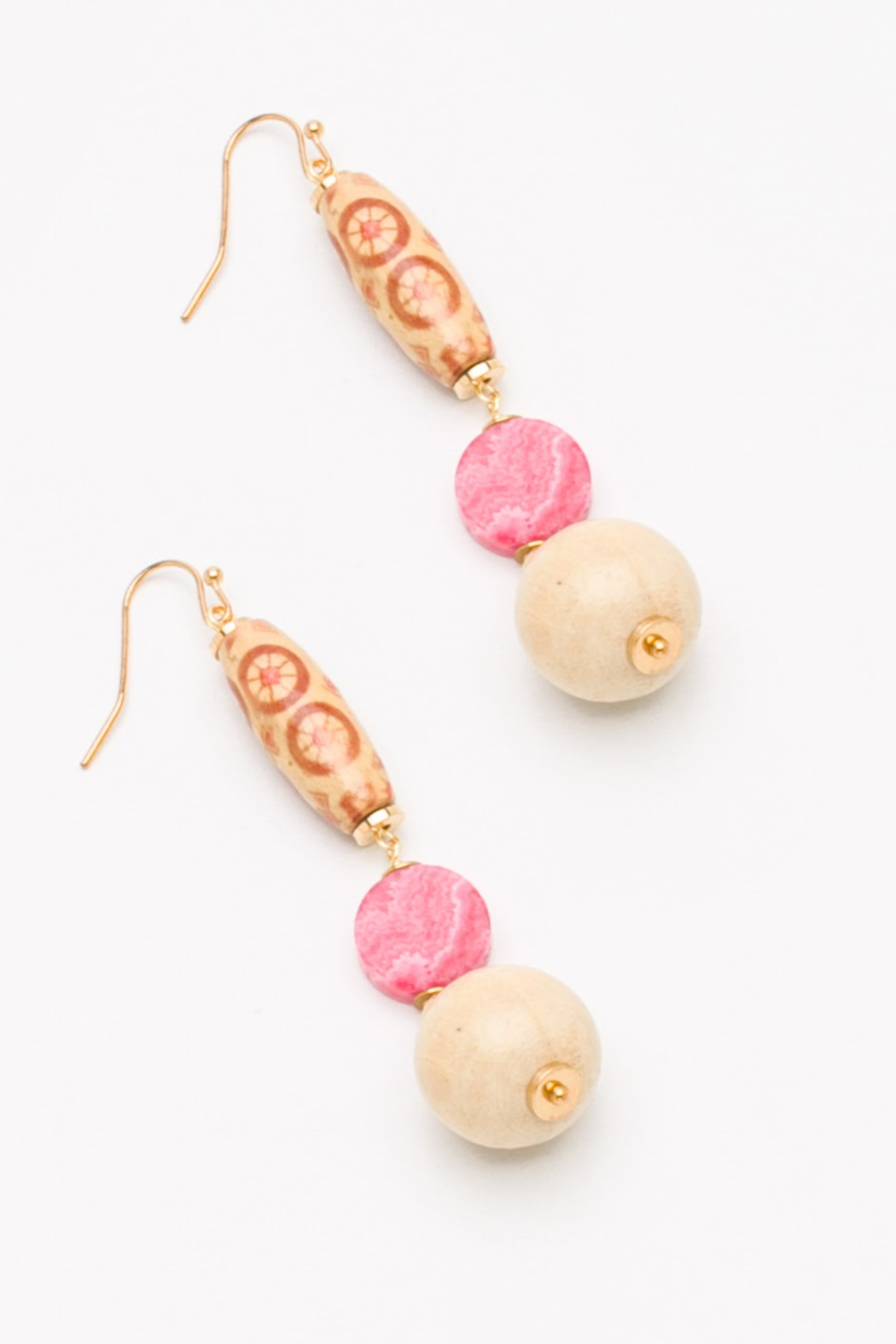 Nakamol  Beaded Drop Earring - Front Cropped Image