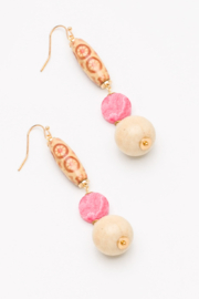 Nakamol  Beaded Drop Earring - Front cropped