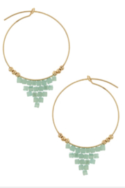 Bluebell Beaded Drop Hoops - Product Mini Image
