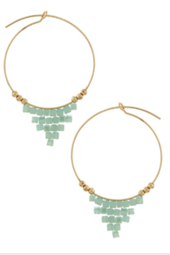 Bluebell Beaded Drop Hoops - Product List Image