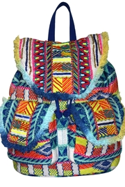 America & Beyond Beaded Embroidered Backpack - Product Mini Image