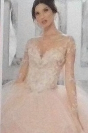 Morilee-Vizcaya Beaded Embroidery Flounced Tulle Ball Gown w/ Matching Stole - Product Mini Image