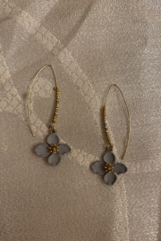 tesoro  Beaded Flower Dangle Earrings - Product Mini Image