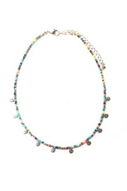 Lets Accessorize Beaded Flower-Disc Choker - Product Mini Image
