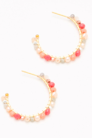 Nakamol  Beaded Hoop Earring - Front cropped