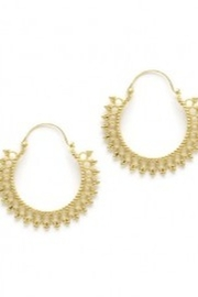 Amano Trading Beaded Hoop Earrings - Product Mini Image