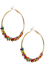 suzie q usa  Beaded Hoop Earrings - Front cropped