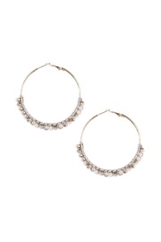 Riah Fashion Beaded Hoop Earrings - Product Mini Image