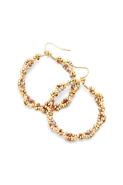 Wild Lilies Jewelry  Beaded Hoop Earrings - Product Mini Image
