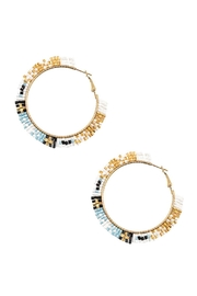 Embellish Beaded Hoop Earrings - Product Mini Image