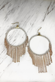 Rush by Denis & Charles Beaded Hoop w Rose Gold Chain - Product Mini Image