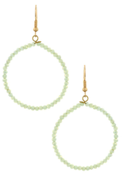 Bluebell Beaded Hoops - Product List Image