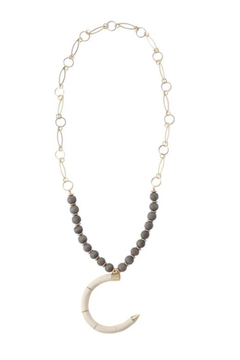 Shoptiques Product: Beaded Horn Necklace