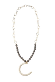 Mud Pie Beaded Horn Necklace - Product Mini Image