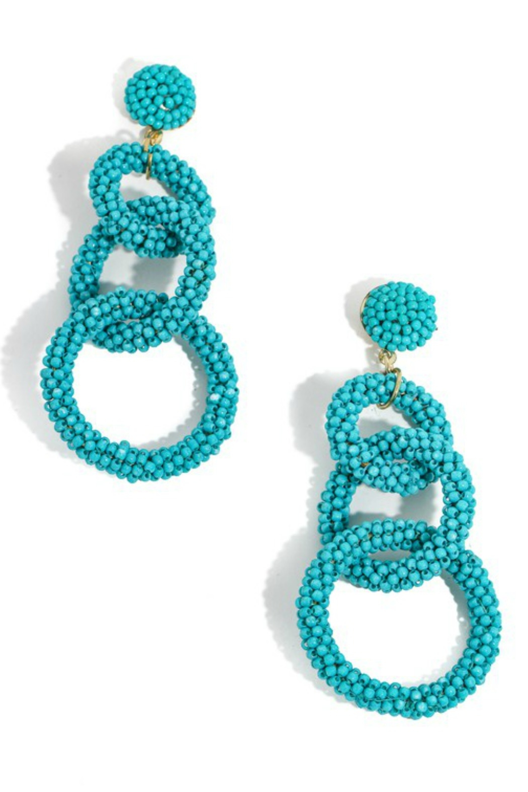 Anarchy Street Beaded Link Earrings - Front Cropped Image