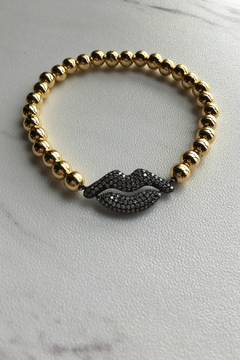 Love, Lisa Beaded Lips Bracelet - Alternate List Image