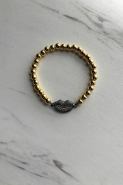 Love, Lisa Beaded Lips Bracelet - Product Mini Image