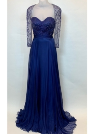 MAC DUGGAL BEADED LONG SLEEVE GOWN - Product Mini Image