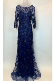 JOVANI FASHIONS BEADED NAVY GOWN - Product Mini Image