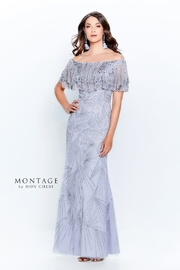 Montage Beaded Off the Shoulder Gown - Product Mini Image