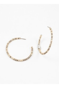 Shoptiques Product: Beaded Open Hoops