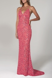 Scala Beaded Paisley Gown w/Low Crisscross Back - Product Mini Image