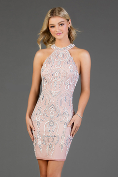 Scala Beaded Paisley High Neck Dress - Product List Image
