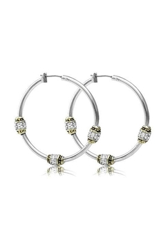 JOHN MEDEIROS Beaded-Pavé Triple-Bead-Hoop Earrings - Alternate List Image