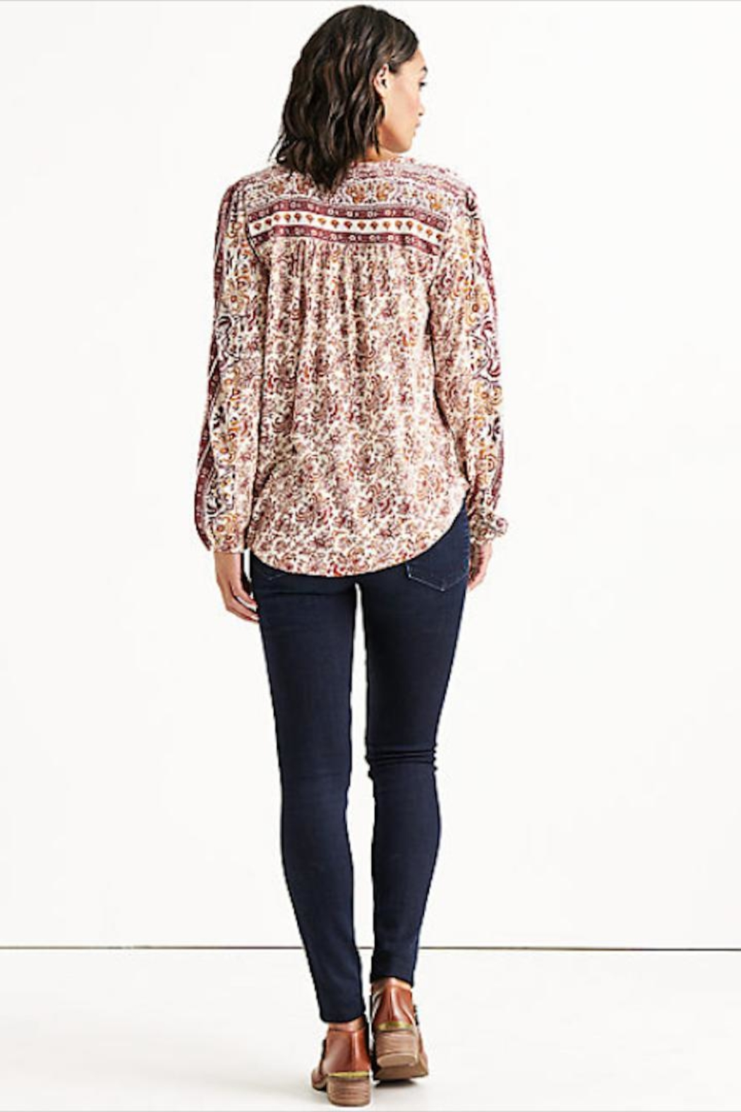 Lucky Brand Beaded Peasant Top - Side Cropped Image