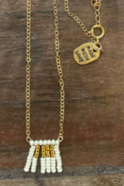 sidai Beaded Pendant Necklace - Front cropped