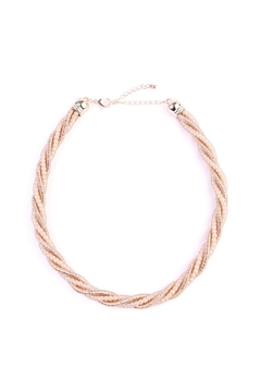 Riah Fashion Beaded-Rope Twisted-Choker Necklace - Alternate List Image