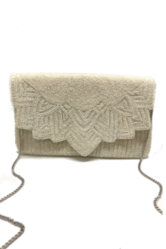 LA Chic Beaded Scalloped Clutch - Product List Image