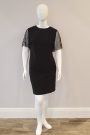 Cachet Beaded Sleeve Dress, Black - Front cropped