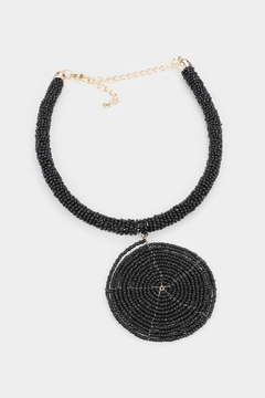 Shoptiques Product: Beaded Spiral Necklace