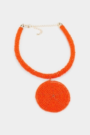 Embellish Beaded Spiral Necklace - Front cropped
