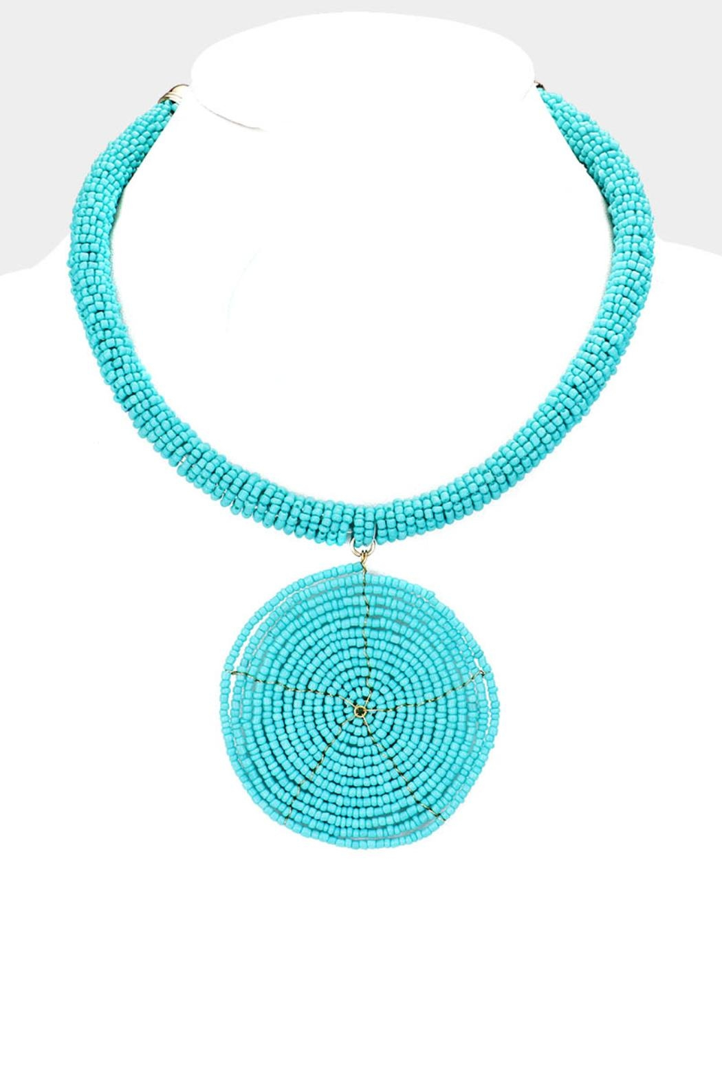 Embellish Beaded Spiral Necklace - Main Image