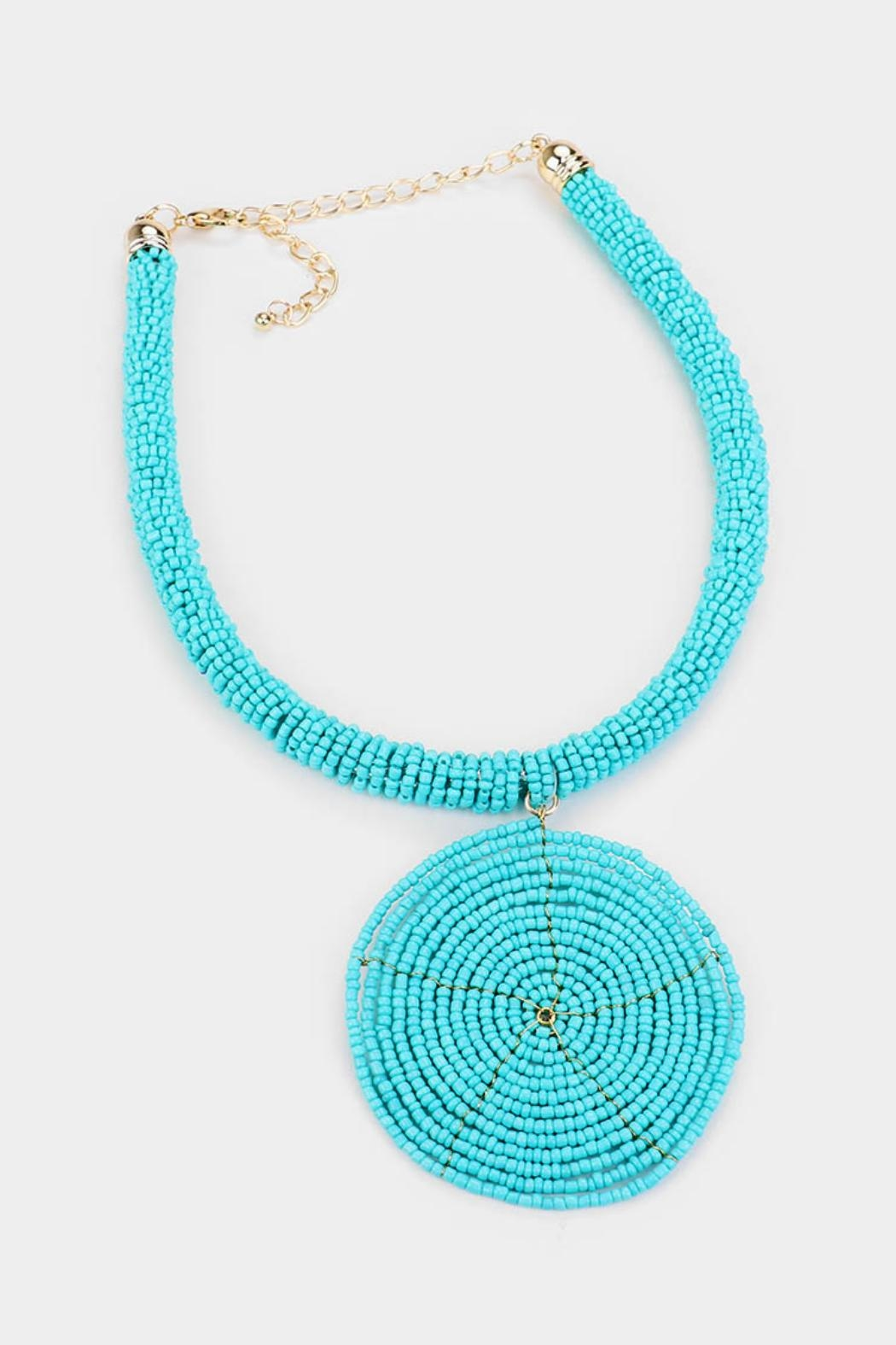 Embellish Beaded Spiral Necklace - Front Full Image