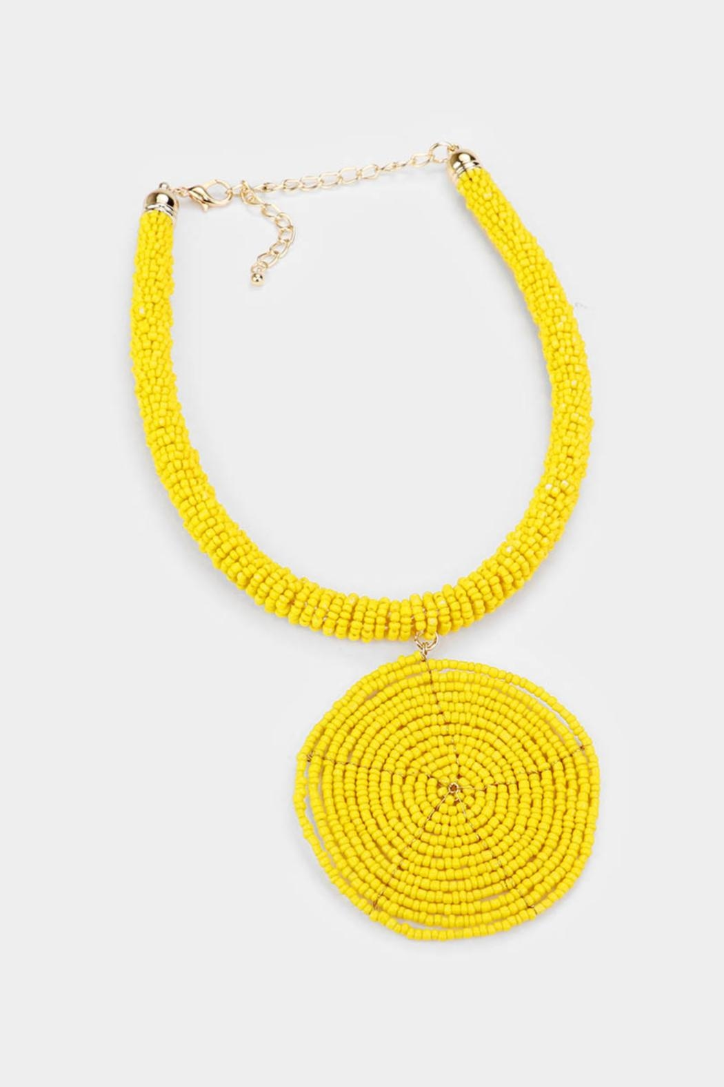 Embellish Beaded Spiral Necklace - Front Cropped Image